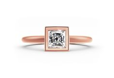 rose gold rings go perfectly with outfits in pastel shade #yorxs #diamantring #rose gold