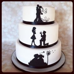 Silhouette love story by Sweet cakes by Jessica