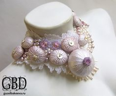 lace, various pearls, bezels, urchins, bead stringing, weaving and embroidery...
