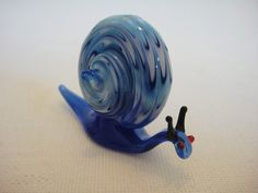 Vintage Hand Blown Glass Animal Blue by alltheseprettythings, £5.00