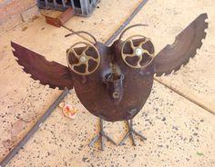 Garden art owl