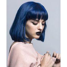 Image result for sita abellan dark blue hair