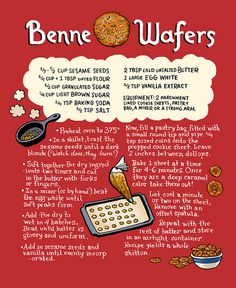 Benne Wafer sesame cookies from @Laura Park