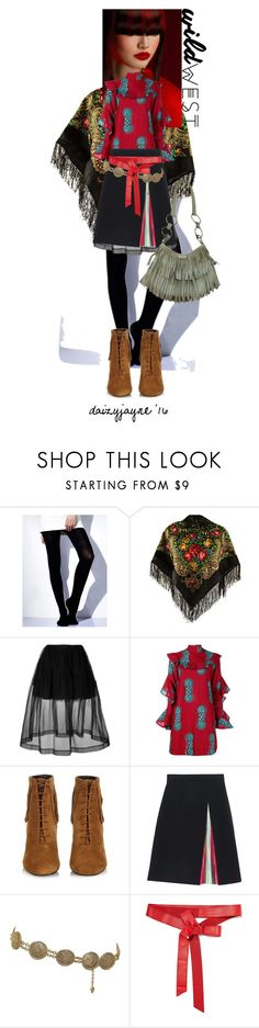 """""""wild west"""" by daizyjayne ❤ liked on Polyvore featuring Simone Rocha, Stella Jean, Yves Saint Laurent, Mary Katrantzou, Chanel, Donna Karan, contestentry and wildwest"""