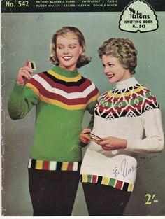 Paton's Knitting Pattern No 542  Fashion For by jennylouvintage
