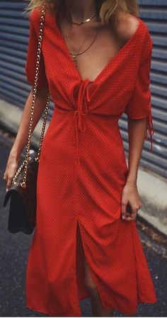 #summer #outfits / red dress
