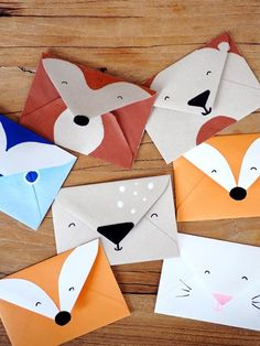 Einladungskarte kindergeburtstag basteln waldtiere disney brave birthday party ideas {from jess and monica at east coast creative} Bear Crafts, Animal Crafts, Wood Crafts, Kids Birthday Crafts, Crafts For Kids, Origami Fox, Rainbow Family, Wood Animal, Fathers Day Crafts