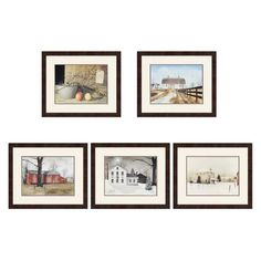 Paragon Decor Country Scenes Framed Wall Art - Set of 5 - 3513