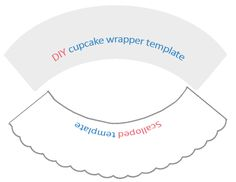 DIY cupcake wrapper templates