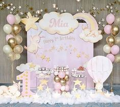 Custom Fabric Backdrop for Birthday&Baby Shower&Wedding&Any Other Party 1st Birthday Party For Girls, Girl Birthday Themes, Baby Girl Shower Themes, Baby Party, Bday Girl, Birthday Backdrop, Birthday Balloons, Birthday Party Decorations, Photos Booth