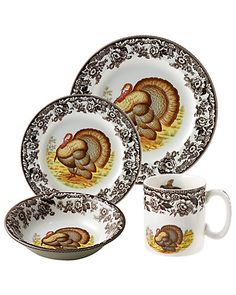 "Spode ""Woodland"" 4pc Place Setting"