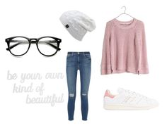 """""""Untitled #5"""" by mariana-figueiredo-i on Polyvore featuring Frame Denim, Madewell, adidas Originals and PBteen"""