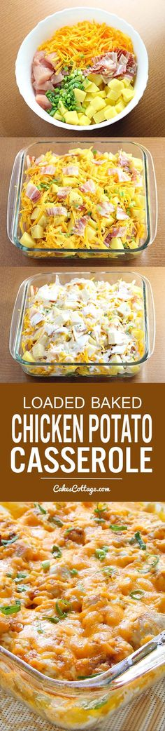 Baked Chicken Potato Casserole Try out this Loaded Baked Chicken Potato Casserole. Quick and easy, feeds the whole family!Try out this Loaded Baked Chicken Potato Casserole. Quick and easy, feeds the whole family! Casserole Spaghetti, Chicken Potato Casserole, Chicken Potatoes, Baked Chicken, Casserole Dishes, Spaghetti Bake, Spaghetti Dinner, Cooking Spaghetti, Chicken Spaghetti