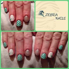 Gelish polka dot nails