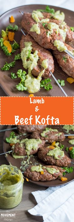 This Lamb & Beef Kofta recipe is super easy to make and are great heated up as leftovers throughout the week. The tangy yogurt sauce is also such a great addition! TheMovementMenu.com