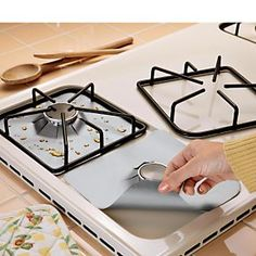Gas Hob Protectors - Nonstick Liners Keep Gas Cooktop Clean | Solutions