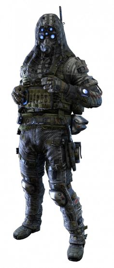 "An I.M.C pilot (Sniper) from the Microsoft exclusive ""Titanfall""."