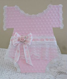 Pink Baby Soft Onesie by sticklelover - Cards and Paper Crafts at Splitcoaststampers Baby Girl Cards, New Baby Cards, Baby Decor, Baby Shower Decorations, Shower Centerpieces, Baby Onesie Template, Baby Mini Album, Baby Shower Invitaciones, Baby Invitations