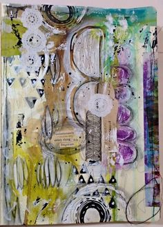 Using Textured Paper in Art Journaling