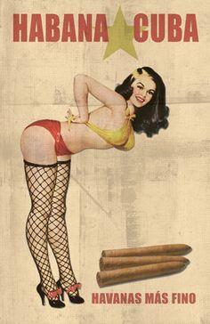 Pin Up Girls of Tobacianna Pub Vintage, Vintage Pins, Vintage Travel, Retro Vintage, Vintage Magazine, Cigar Art, Pin Up Posters, Retro Pin Up, Arte Pop