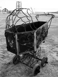 goth coffin pram #baby #amazing #gothic