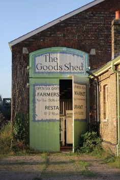 ~ The Goods shed is a covered farmers market with restaurant serving British food prepared with fresh local ingredients from its own market ~ Canterbury ~ England ~