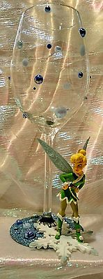 Tinkerbell Figurine Glitter Wine Glass in Crafts, Hand-Crafted Items | eBay