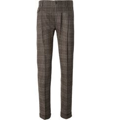 Dolce & GabbanaPleated Plaid Wool Trousers  www.thestyledancer.com
