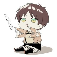 Eren Jaeger...... why do you have to be so DANGEROUSLY CUTE...... i love