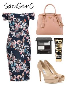"""""""# 129 ♡"""" by samchoo ❤ liked on Polyvore featuring Prada, Jimmy Choo, women's clothing, women's fashion, women, female, woman, misses and juniors"""