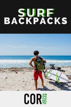 COR Surf backpacks are waterproof dry bags that are ultralight and great for traveling. A must-have accessory for people who spend time in the water that need to keep their gear dry when they go surfing. Outdoor Gadgets, Outdoor Gear, Outdoor Life, Surf Accessories, Surf Trip, Waterproof Backpack, Adventure Activities, Backpacking Gear, Get Outdoors