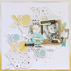 #papercrafting #scrapbooking #layout - by Kayla MacAulay