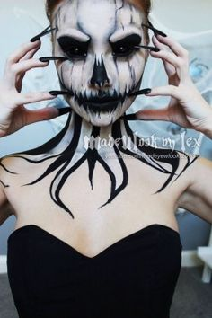 Scary Skeleton Make Up | Diy Halloween Costume Ideas. This is what I want to do!