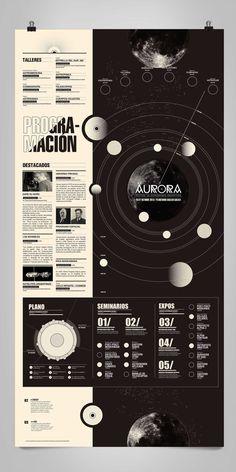 Aurora programme by Boris Vargas Vasquez, via Behance #infographic