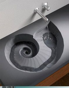 Hypnotic swirling, can't stop faucet, must keep watching.  Like a cat flushing a toilet.