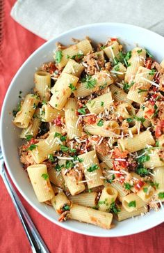 Tuna Rigatoni with Sun-Dried Tomatoes