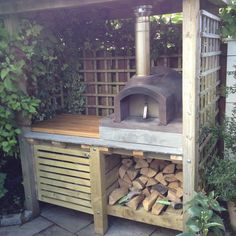 Primo Prem Reynolds - The Stone Bake Oven Company Outdoor Kitchen Patio, Pizza Oven Outdoor, Outdoor Pergola, Outdoor Kitchen Design, Outdoor Rooms, Backyard Patio, Backyard Landscaping, Outdoor Gardens, Outdoor Living