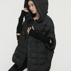 [ LYNETTES CHINOISERIE - Qing Chen ] Original design women 90 white duck down fifth sleeve lacing design loose short down coat
