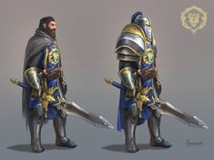 Another World of Warcraft character. A more knightly type. It's the same person, just two different levels of armor. World Of Warcraft Game, World Of Warcraft Characters, Warcraft 3, Dnd Characters, Fantasy Characters, Dragon Age, Character Inspiration, Character Art, Character Design