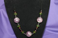 Perfectly Pretty Purple and Green Necklace by TumeysKatTreasures, $19.99