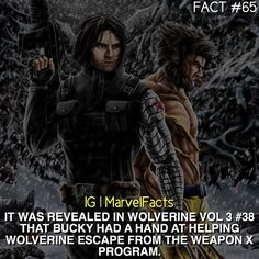 Bucky Barnes helped Wolverine escape the Weapon X program