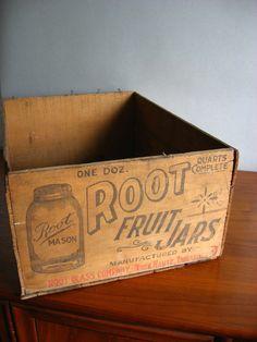 ReservedAntique Root Mason Jar Box by vintagesprawl