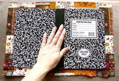 Cover a Composition Notebook with Fun Fabric