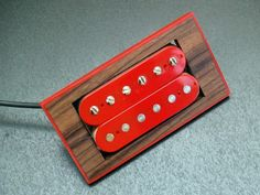 Highline Guitars Red Bound Griffon... like the pickup and mounting ring