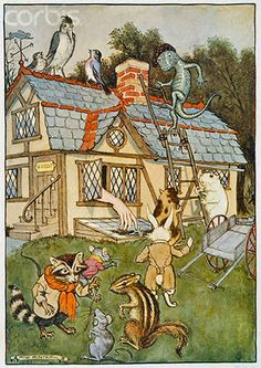 Milo Winter - Alice's Illustrated Adventures In Wonderland: Chapter 4 ~ The Rabbit Sends In A Little Bill