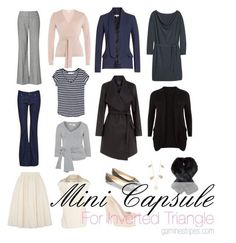 How to create a capsule wardrobe for inverted triangle shape
