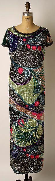 Pierre Cardin | Evening dress | FrenchbyPierre Cardin (French, born San Biagio di Callalta, Italy, 1922) 1967