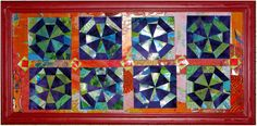 Make a miniature quilt design with scraps - Scrappy Spider Web by Terry White.