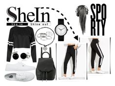 """""""SheIn: Black striped side sweat pants"""" by hola-hi ❤ liked on Polyvore featuring Vans, Bling Jewelry, rag & bone and Kendra Scott"""