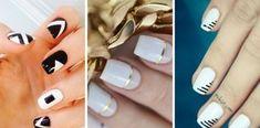 Más de 30 diseños de uñas en color blanco